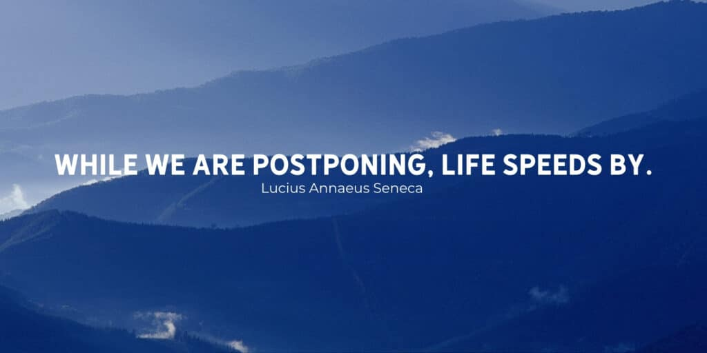 while we are postponing life speeds by (1)